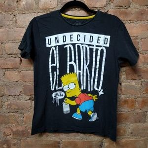 The Simpsons Official Black T-shirt